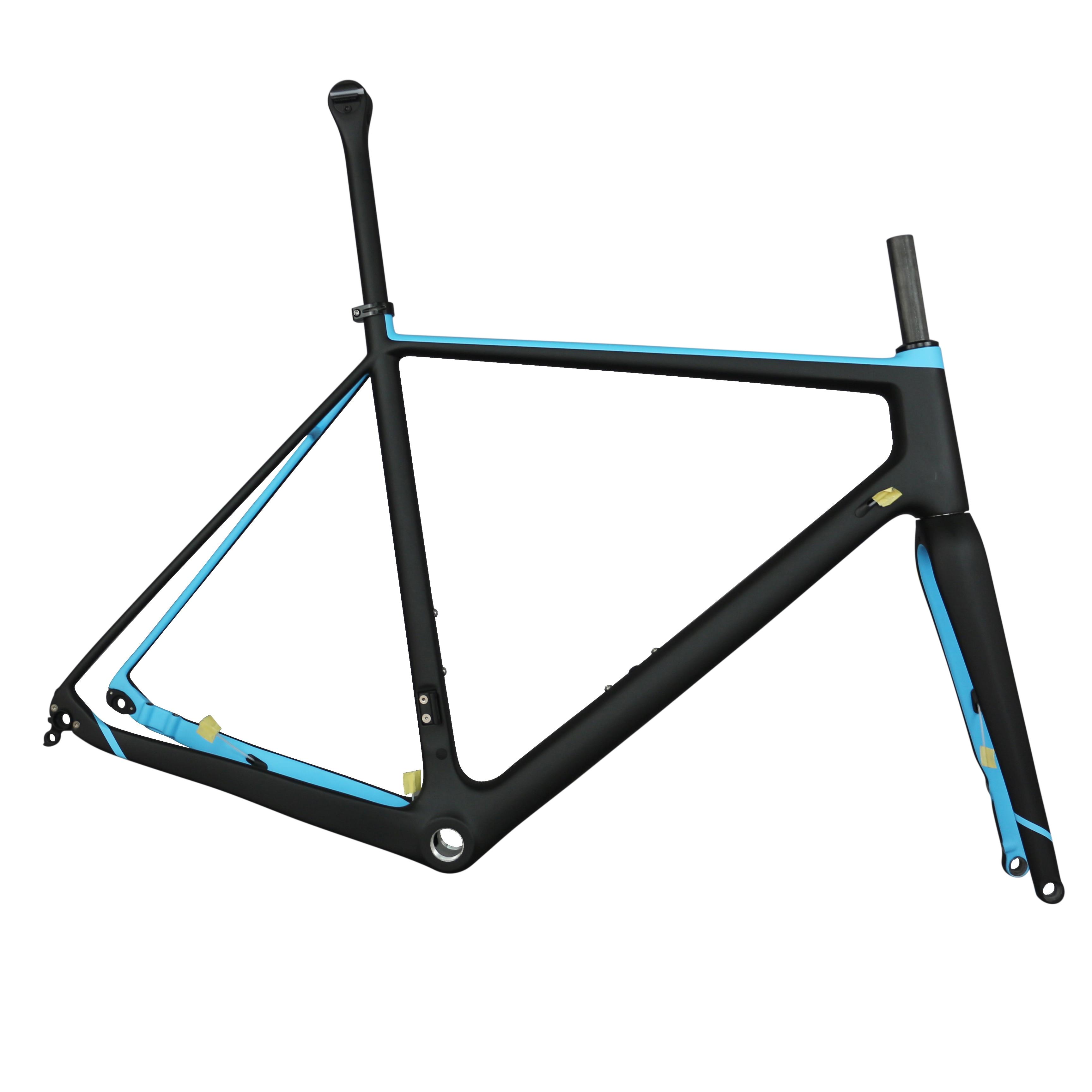FlatmountgravelDiscbrake Toray Carbon Fiber T700 Bike Frame GR029  BSA Or BB30 With 12x142 Alxe Thru Accept Custom Paint