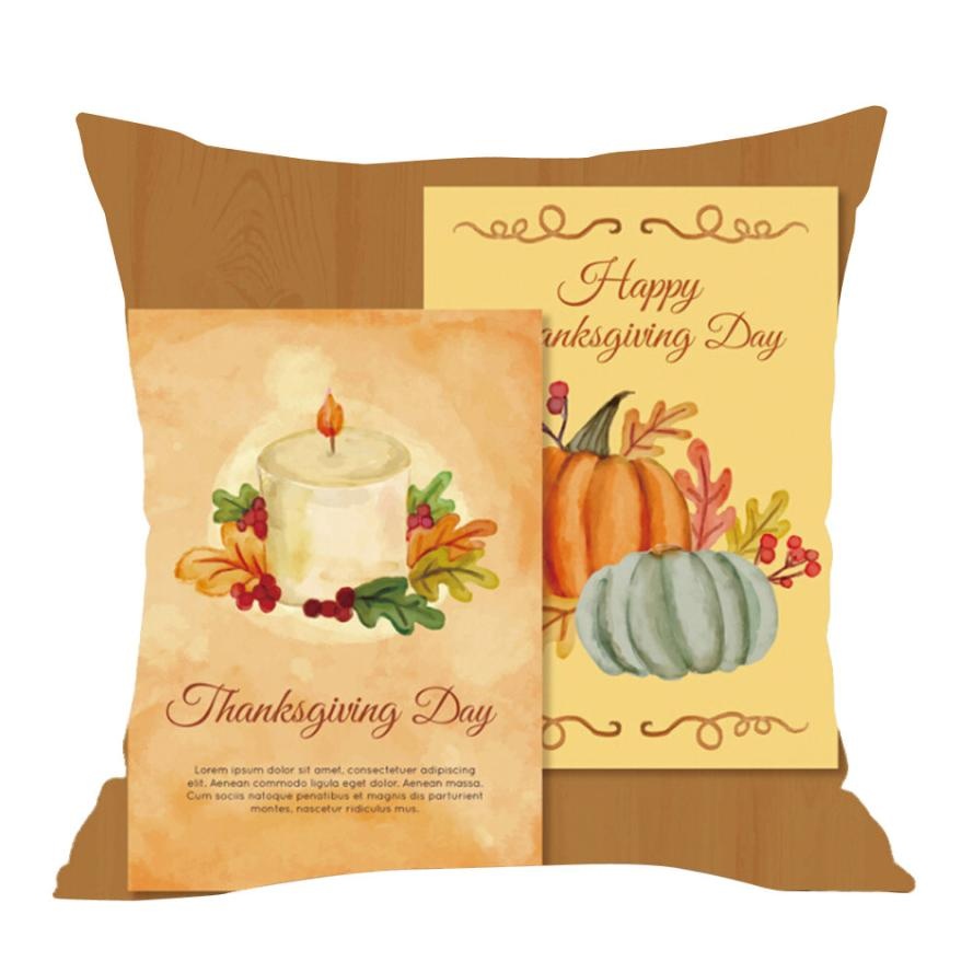Happy Fall Thanksgiving Day Soft Pillow Cushion Cover pillowcase ...