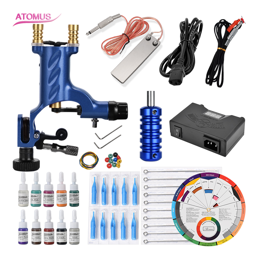 Rotary Tattoo Machine Set Kit Complete Gun Professional Machines Rotary Motor Shader Liner Makeup Pro Kits Iniciante EnsembleRotary Tattoo Machine Set Kit Complete Gun Professional Machines Rotary Motor Shader Liner Makeup Pro Kits Iniciante Ensemble