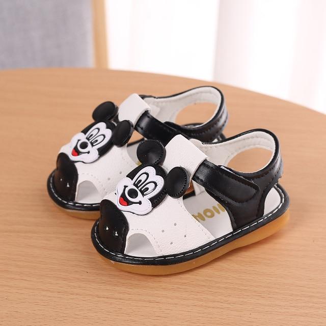Baby boys girls Summer Sandals Cartoon Children mickey baby shoes For 1-2T kids Newborn Infantil Toddler Beach Sandal Sandalia
