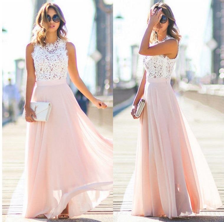AVODOVAMA M 2018 Hollow Out Bohemian Dress Summer Sleeveless High Waist Women FLoor-Length Party Dresses