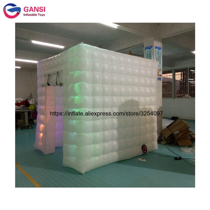 Cabine de photo gonflable de vente chaude, tente gonflable de LED pour la cabine, cabine de photo gonflable de prix bon marché