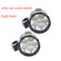 12V 60W Motorcycle work lamp LED Moto auxiliary lights only high beam 6000K spotlights Motorbike Headlight DRL Car accessories