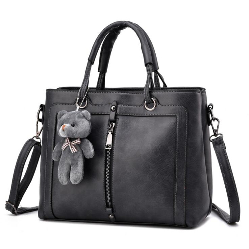 21club brand medium large capacity ladies totes zipper bear strap thread shopping office women crossbody shoulder bag handbags 2
