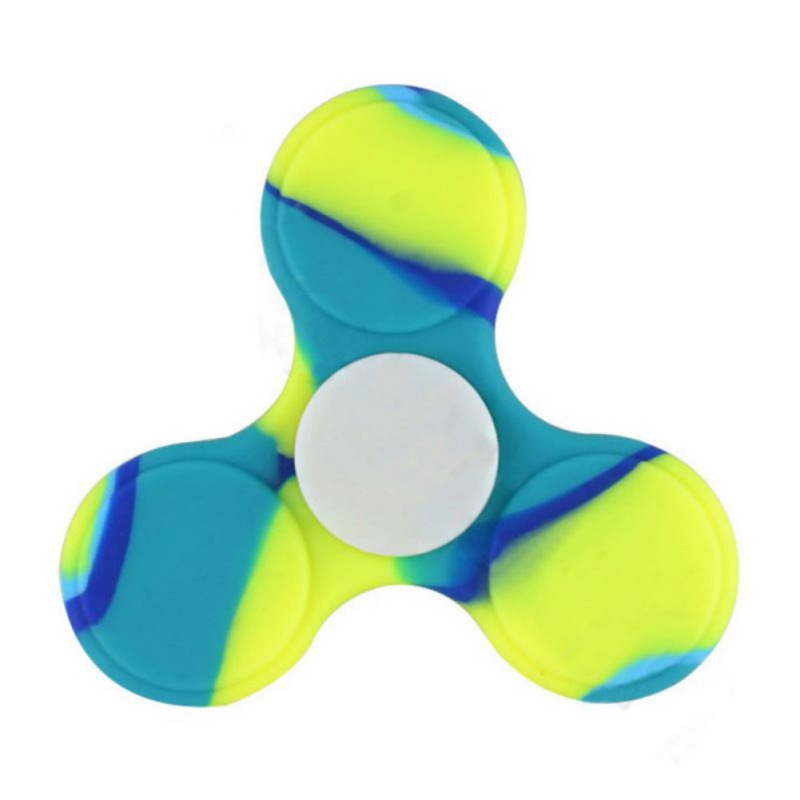 Colorful Matte Silica gel Tri-Spinner Fidget Toy EDC Hand Spinner For Autism and ADHD Rotation Time Long Anti Stress Toys creative ceramic tri spinner fidget toy edc hand spinner for autism and adhd stress relieve toy rotation time beyond 6 minutes