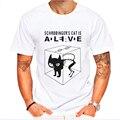 Nuevo the big bang theory sheldon cooper schrodinger cat t shirt dos homens dos desenhos animados anime imprimir camisas