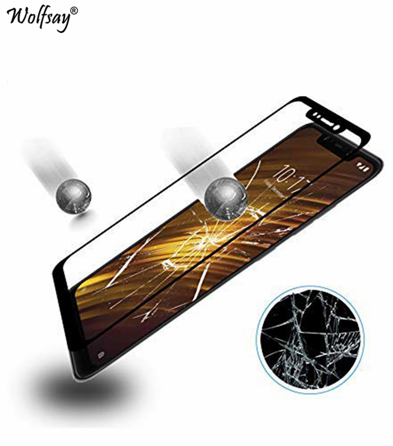 Image 2 - 2PCS Full Cover Glass For Xiaomi Pocophone F1 Screen Protector Tempered Glass For Xiaomi Pocophone F1 Film For Pocofone F1 Glass