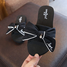 цена COMFY KIDS Girls Beach Sandals Shoes Fashion Flower Girls Slides Shoes Size 24-41 Children's Shoes онлайн в 2017 году