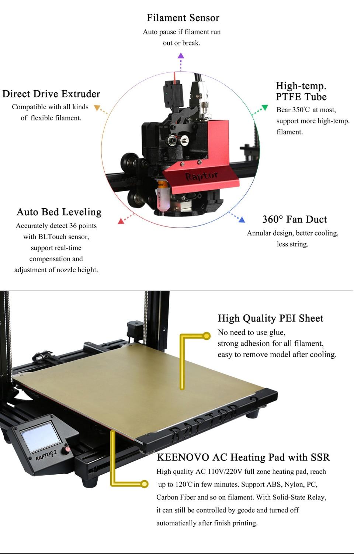 Vivedino raptor 2 + impressora 3d fdm