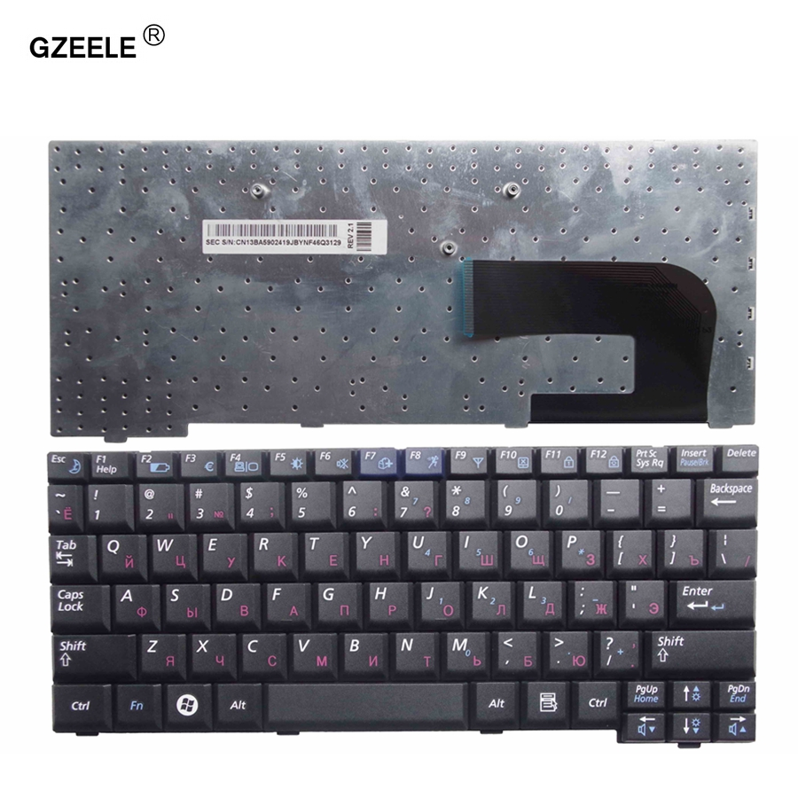 GZEELE New  Laptop Keyboard For Samsung NP-NC10 NC10 ND10 N108 N110 N130 Np-N130 N140 NC310 CNBA5902419Q BA59-02419Q RU Black