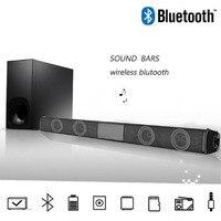 20W TV Speaker Wireless Bluetooth Speaker Portable Column Bass Soundbar Subwoofer with FM Radio for Computer TV Sound System Box