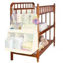 Baby Bett Hängen Aufbewahrungstasche Wasserdichte Windeln Organizer Portable Kleidung Veranstalter