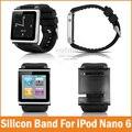 Новые Силиконовые Алюминиевый Наручные Часы Band Case для Apple iPod Nano 6 6-го Поколения iwatchz Ремешок Браслет Pulseira Relojes Крышка