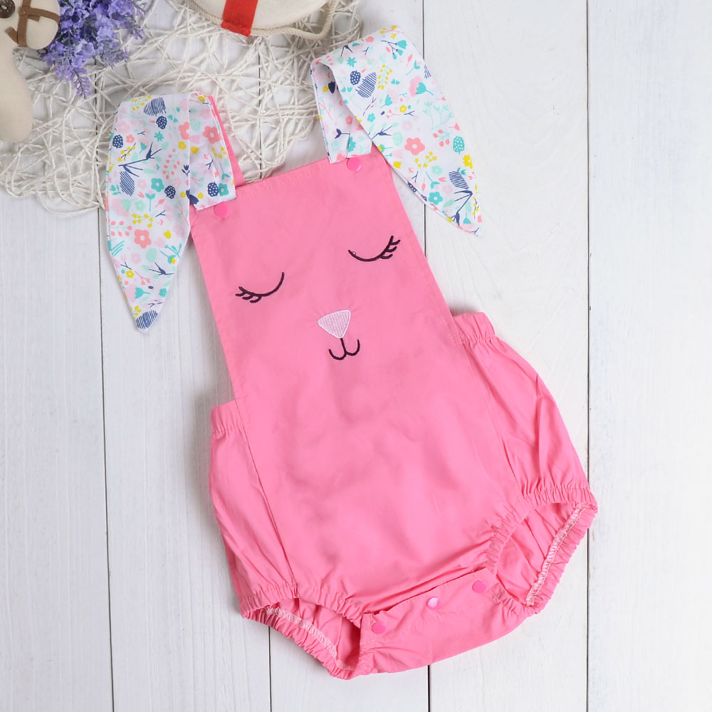 660d351593d Detail Feedback Questions about Newborn Lovely Baby Clothes Long Ears Print  Rabbit Bodysuit Pink Solid Ruched Jumpsuit Bebe Girls Clothing on  Aliexpress.com ...