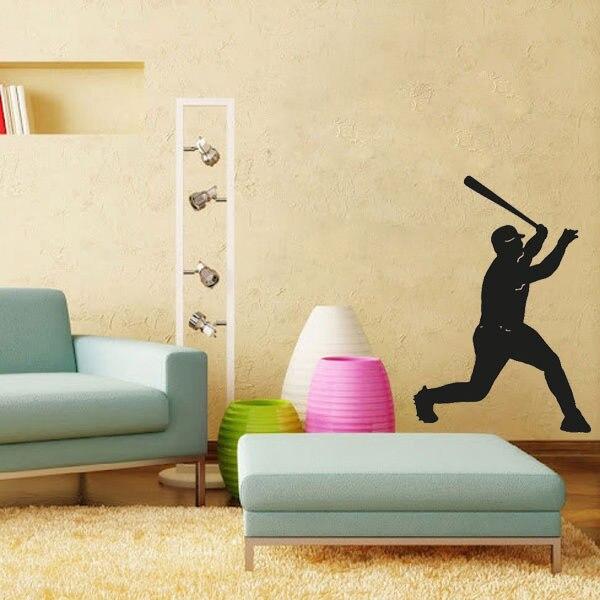 Baseball Teig Silhouette Wandtattoos Vinylaufkleber Dekor Wohnzimmer Dekorative  Aufkleber Kindergarten Wandtattoo
