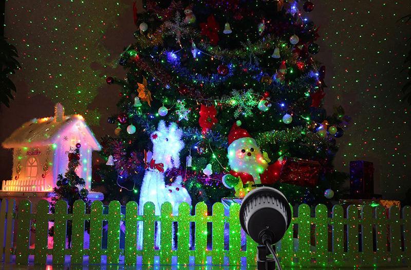 рождество лазерный проектор звезды красный зеленый дождя огни открытый водонепроницаемый IP65 для украшения сада статический мерцание с рф дистанционного