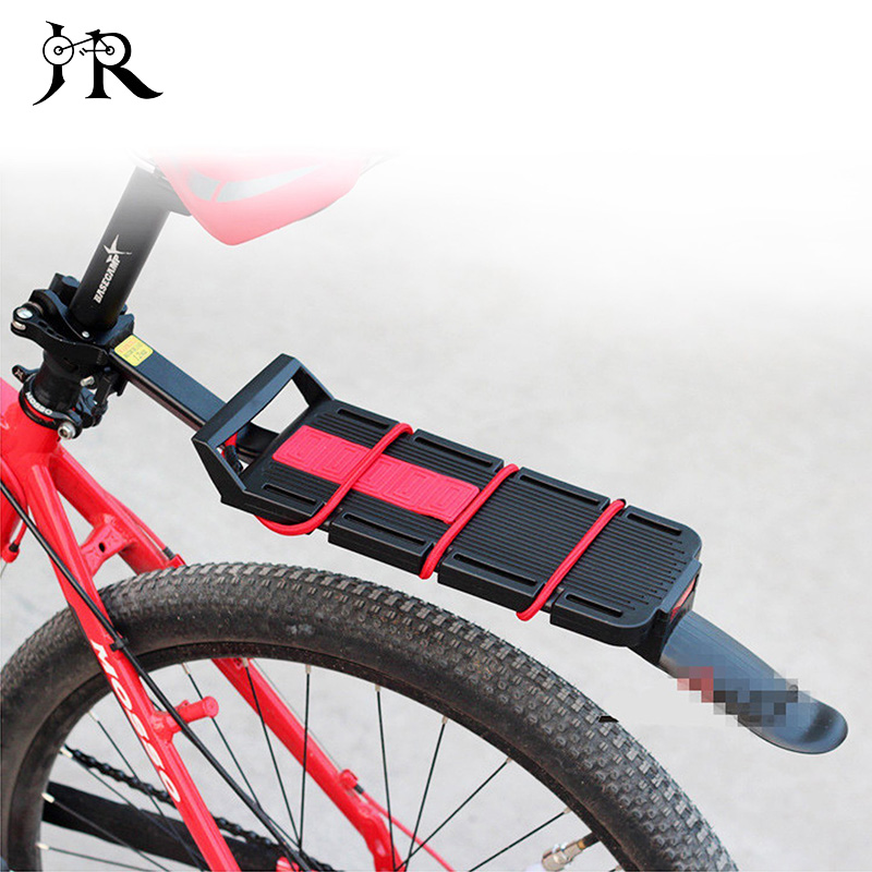 Aluminum Alloy 2-in-1 Bike Rear Racks Multifunction Quick Disassembly Luggage Carrier MTB Bicycle Racks with Fender Tail New rockbros titanium ti pedal spindle axle quick release for brompton folding bike bicycle bike parts