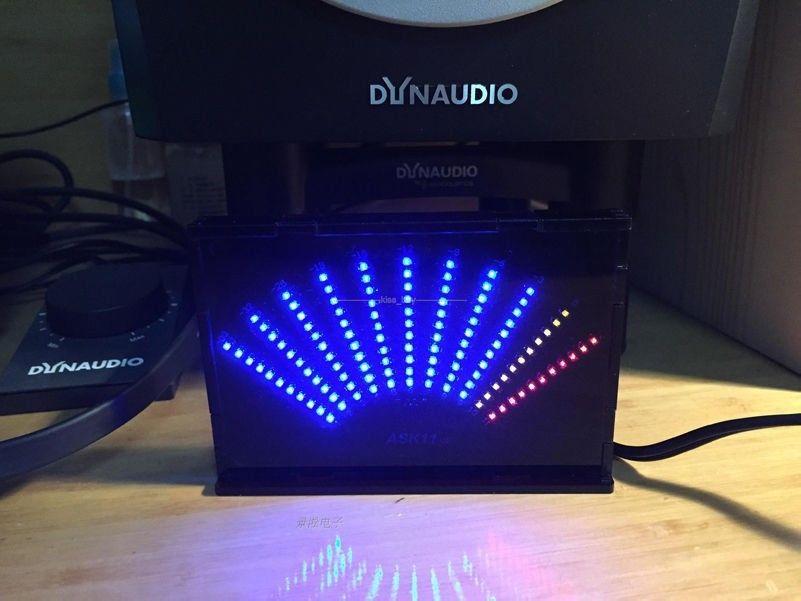 Fan-shaped Audio Level Meter Audio LED Display Music Spectrum Analyzer FOR Pc Mp3 Amplifier VU METER + CASE 5v Usb Power