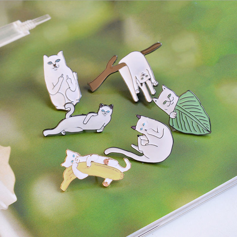 Arts,crafts & Sewing Reasonable 1 Pcs Cartoon Parrot Black Cat Metal Badge Brooch Button Pins Denim Jacket Pin Jewelry Decoration Badge For Clothes Lapel Pins
