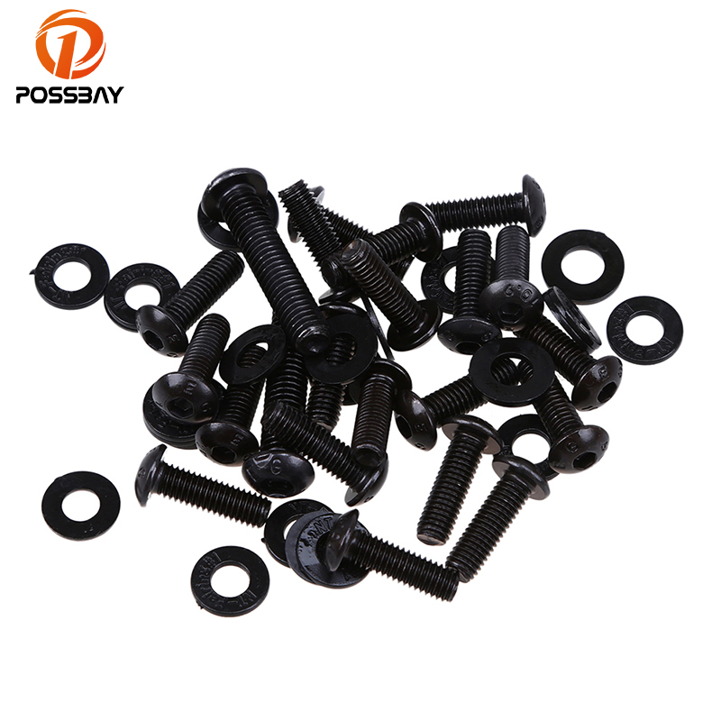 POSSBAY Motorcycle Body Fairing Screws fit for Kawasaki ZX6R 2003-2004 2005-2006 2007-2008 Moto Parts Scooter Windshield Bolts