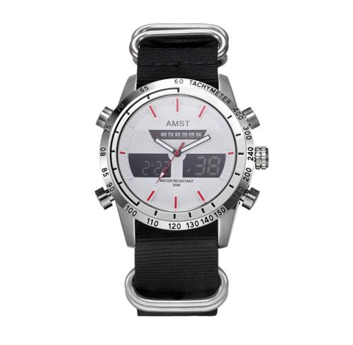 2019 AMST Brand Quartz Watch LED digital analog multi-function Military / Sports / Outdoor 1