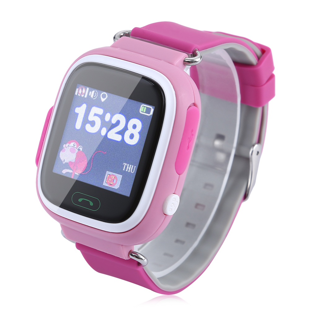 ФОТО SOS Call Location Finder Children Anti Lost GPS Tracker Smart Watch SOS GSM  App For IOS Android Baby Smartwatch Kids Wristband