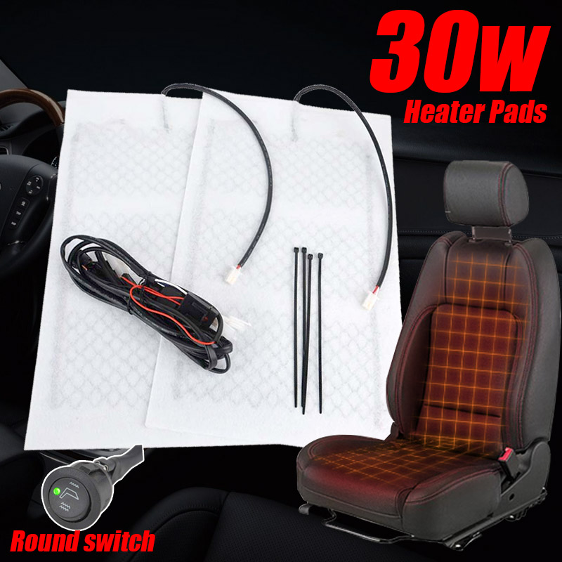 1seat Universal Car Carbon Fiber Heated Seat Pad High Quality Heater Pad H/L Round Switch Kit for Seat Covers