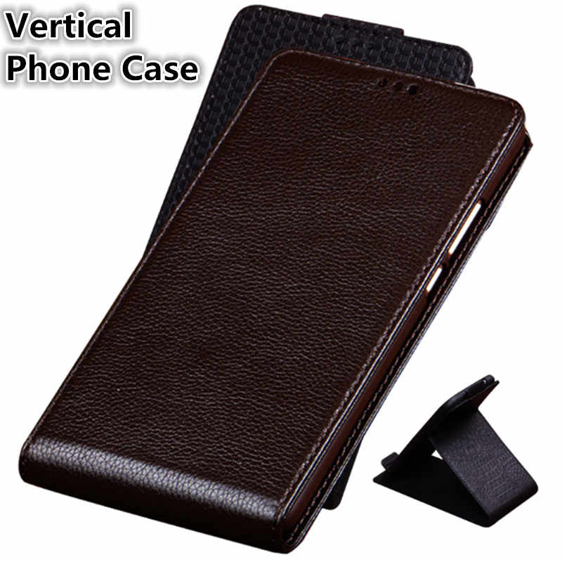 CJ06 Genuine Leather Vertical Flip Phone Bag For Xiaomi Redmi Note 7(6.3') Case For Xiaomi Redmi Note 7 Vertical Case