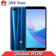 Huawei Y7 Prime 2018 Smartphone Küresel Firmware Cep Telefonu FaceID Kilidini 5.99 inç Ekran Qualcomm Snapdragon Android 8.0