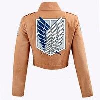 Ataque a titan eren levi shingeki no kyojin legión cosplay capa de la chaqueta de la chaqueta más el tamaño de envío gratis del traje de halloween