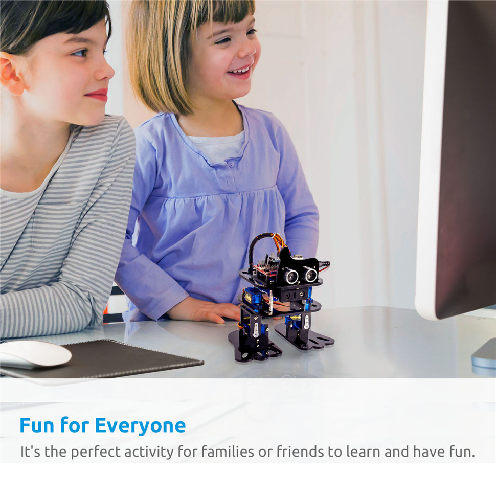 SunFounder DIY 4-DOF Robot Kit -Sloth Learning Kit for Arduino Nano DIY Robot (2)