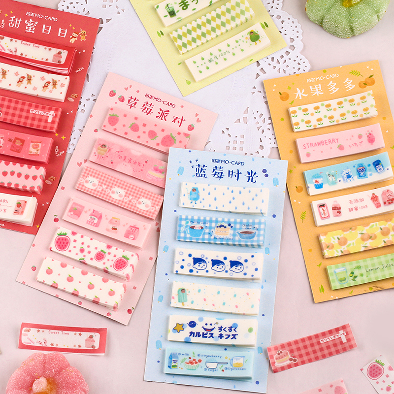 Snack Shop Series Kawaii Planner Handbook Decorative Paper Washi Tape School Supplies Stationery Album Fruits Memo Pad Stickers