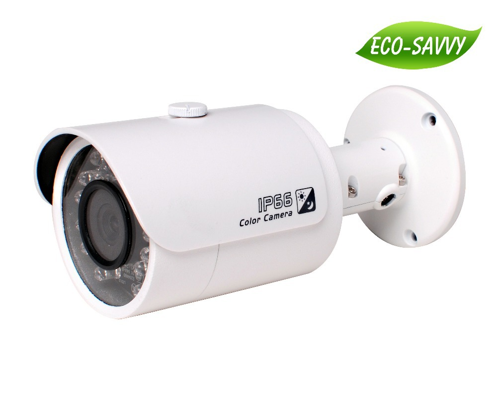 Free shipping 3.0Mp CMOS Full HD Network camera dahua Small IR-Bullet Camera HDBW4300S infrared Camera Support POE <font><b>H</b></font>.264 MJPEG