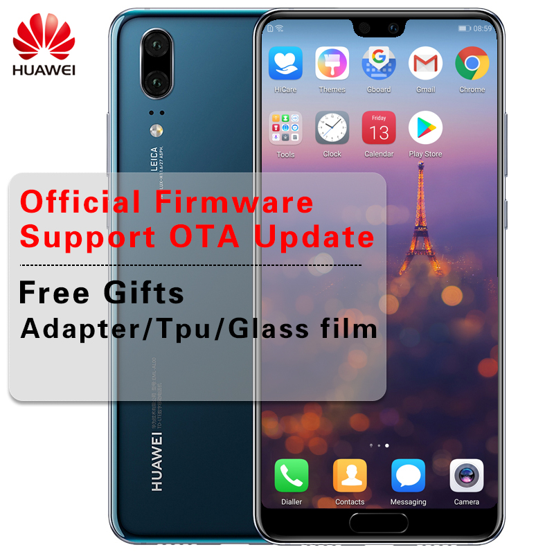 "Huawei P20 полный LTE Band AI смартфон 5,8 ""полный вид экран SuperCharge NFC 6G RAM 64 ГБ/128 ГБ Встроенная память Android 8,1 24.0MP 3 камеры"