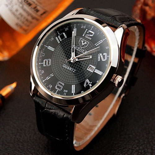 Yazole wristwatch 2018 wrist watch men watches top brand luxury famous quartz watch for male for Celebrity watch brand male