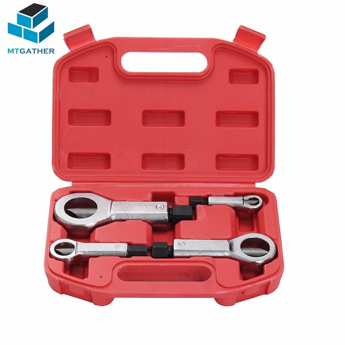 MTGATHER 4 Pcs Novo Kit Divisor Porca Cracker Corroído Empanturrados Aperto Removedor Removedor Extrator Conjunto de Ferramentas Lâmina de Aço Ferramenta de Divisão 9-36mm