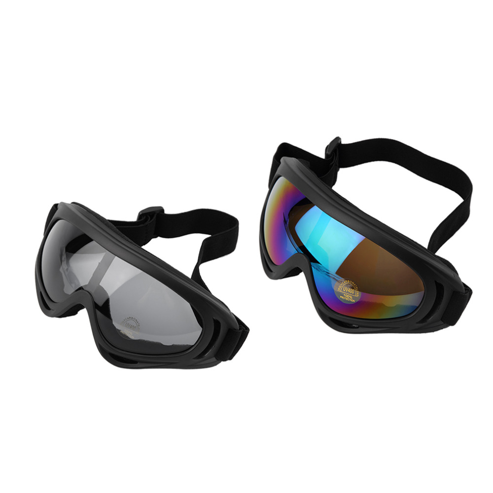 Motorcycle Bike ATV Motocross UV Protection Ski Snowboard Off-road Goggles FITS OVER free shipping