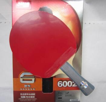 מקורי DHS 6002 (6002, 6 כוכב) FL ארוך ידית טניס שולחן מחבט עם קייס מחבט ספורט מקורה ספורט