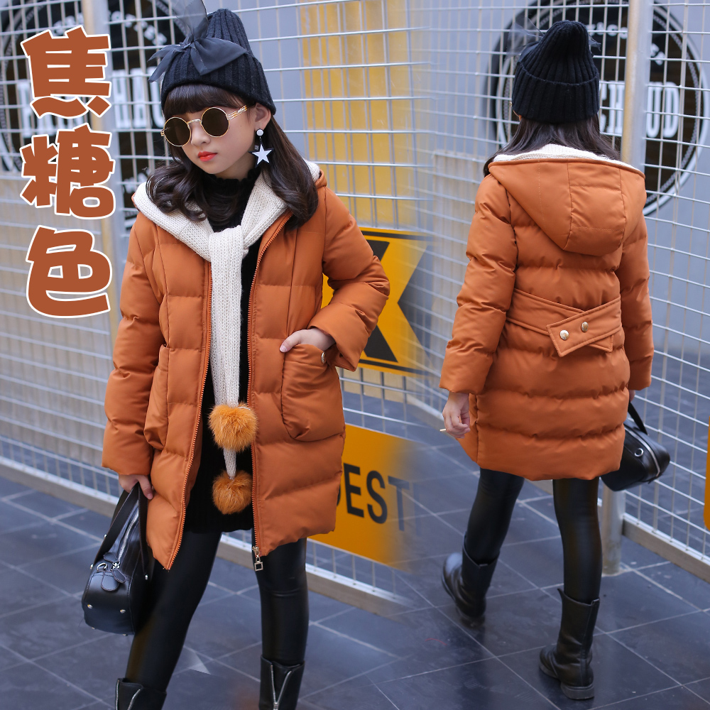 Children winter jacket coat thick long hooded outerwear cute fashion for age 4 5 6 7 8 9 10 11 12 13 14 years girl kids clothing children cowboy jacket coat hooded 2017 winter new tide thick cashmere long outerwear size 4 5 6 7 8 9 10 11 12 13 years girl