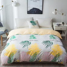 New Nordic Style white yellow Banana Leaf Duvet Cover 1 Pc Quilt Cover Comforter cover Blanket Case Twin Full Queen King Size(China)