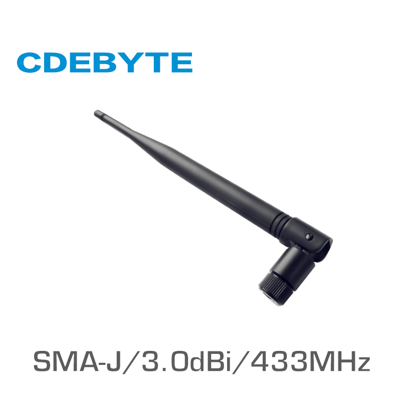 TX433-JKS-20 433MHz WIFI Antenna High Gain 3.0dBi SMA-J Interface 50 Ohm Uhf Flexible Omnidirectional Antena Tv Exterior