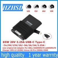 65W 20V 3.25A USB C Type C new original AC Adapter For DELL HA65NM170 LA65NM170 Charger XPS 12 (9250) Venue 10 Pro (5056) 9365