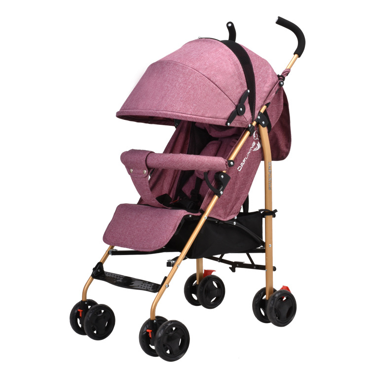 New Upgrade Lightweight Shock Absorber Folding Trolley Can Sit on A Reclining Umbrella Car FourWheel Stroller Baby Carriage4.8kg