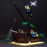 178 pcs A ilha do Naufrágio do Navio de Pirata Caribe Medieval Peças de Blocos de Construção Tijolos Brinquedos DIY