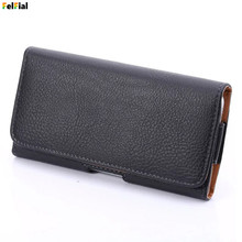 Universal Belt Holster Leather Mobile Phone Case Pouch for Apple