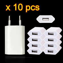 10PCS Lot Reise Wand USB Lade Ladegerät Für Apple iPhone 7 6 6s 5 5S SE 5C 4 4S 3GS Power Adapter AC 8 Pin EU Stecker