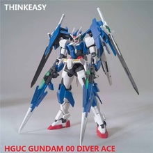 Japaness Original HG 1/144 Gundam Model 00 DIVER ACE RIKUS MOBILE SUIT Unchained Mobile Suit Kids Toys With Holder