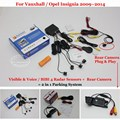 Para Vauxhall/Opel Insignia-Sensores de Estacionamento + Retrovisor Do Carro Back Up Da Câmera = 2 em 1 Visual/Alarme BIBI Estacionamento sistema