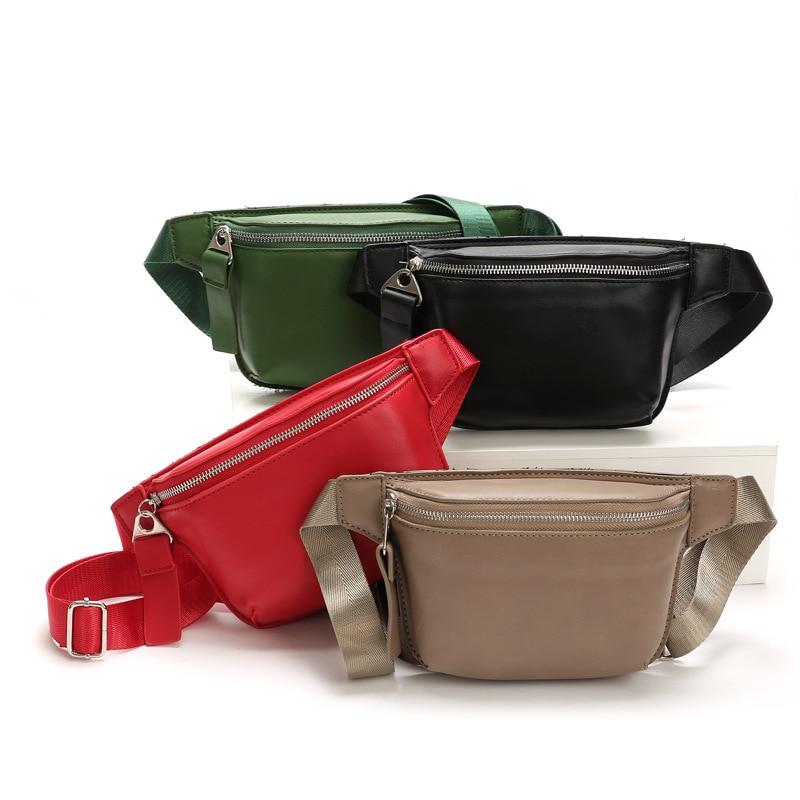 PU Black Waist Bag Women Designer Fanny Pack Fashion Belt Bag Female Mobile Packs Chest Bags Shoulder Backpack 82