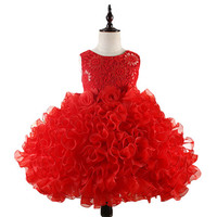 Flowers Girl Dress Party Birthday Wedding Princess Toddler Baby Girls Ball Growns Clothes Children Kids Girl